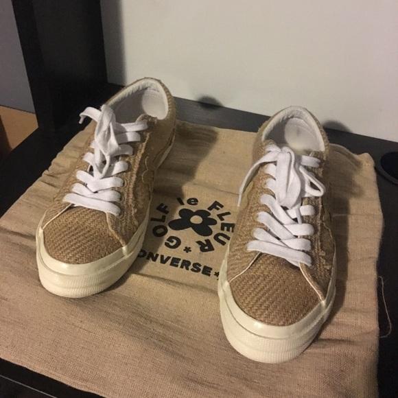 Converse Shoes Golf Le Fleur Burlap Poshmark